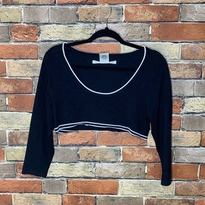 Max studio cropped sweater